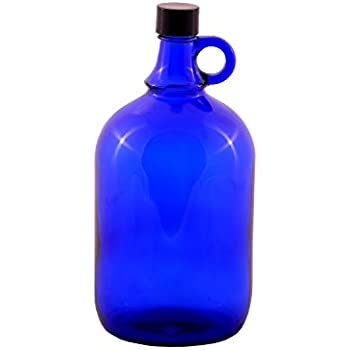 Bouteille en verre carafe à eau bleue 2L avec bouchon à