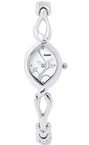 Espoir Floral Analog White Dial Women's Watch - 2455
