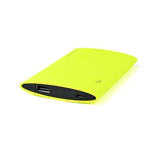 Bepower® Sair 3000mAh Externer Akku/Powerbank + ESTUCHE. Notebook Akku für Smartphones, Tablets, usw., Schnellladung und Finish in Sandstein Oberflächenbeschichtung. [Designed in Spanien]