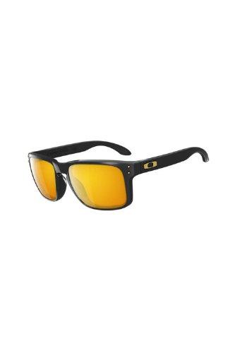 Oakley Sonnenbrille Holbrook W/Warm, Polished Black (S White Ss), 55 - Sonnenbrille White Holbrook