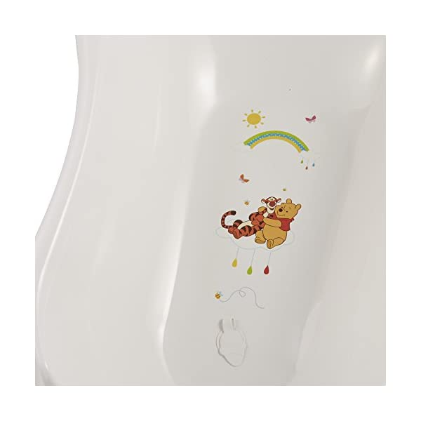 Disney Winnie the Pooh and Friends 84 cm Baby Bath Tub with plug and soap holders- White 3