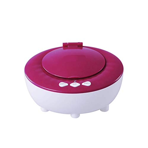 QueenYA Kontaktlinsen-Reinigungssystem, Ultraschallreiniger, Auto Reinigungs Kontakte Objektiv, bewegliche Kontaktlinsen reinigen Kit, Mini Auto Ultraschall-Kontaktlinsen reinigen,Rosa