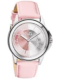 D&G Dolce & Gabbana DW0671 - Reloj para mujeres, correa de cuero color rosa