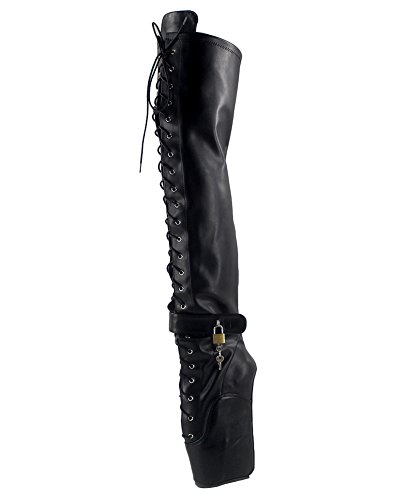 Ballet Boot (WONDERHEEL Damen Wedges Over-Knee Ballett Stiefel Schwarz 42.5 EU)