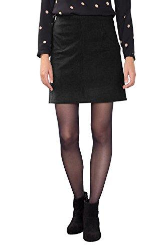 ESPRIT Damen Rock 086EE1D011, Schwarz (Black 001), 38