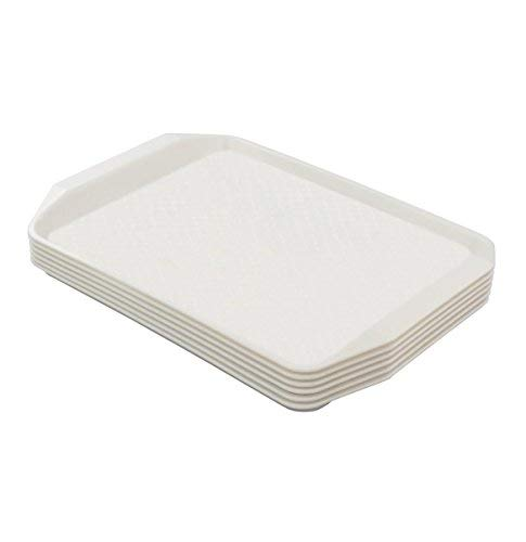 eagrye täglichen Fast Food, Rechteck 42,9x 30,5cm Set von 6(weiß) - Fast-food-catering