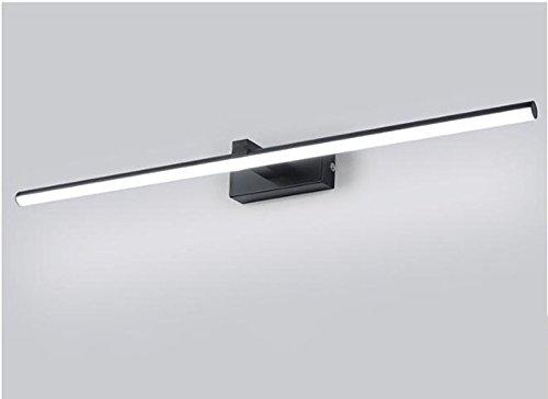 CCGG Einfache LED Spiegel Scheinwerfer Badezimmer Badezimmer Lampe Make-up Lampe Hause Badezimmer Lampen 40cm 60cm 80cm 100cm (Farbe : Black, Größe : Flat tube-40cm)