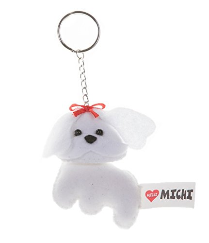 MICHI/PC06 Keyring Maltese Keyring, Gift Idea