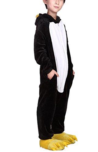 Kostüm Drache Esel (Happy Cherry Kind Schlafanzug Warmer Flanell Einteiler Pyjamas Unisex Cosplay Kostüme Tierkostüm Pinguin Dicke Nachtwäsche Kostüm Für Weihnachten Animal Sleepwear Geeignet Für 2 Bis 3 Jahre -)