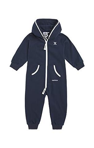 Onepiece Unisex Baby Strampler Jumpsuit Solid, Blau (Midnight Blue), Gr. 1.5-2 Jahre( 18-24 Monate)
