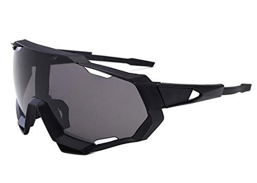 Daesar Sicherheitsbrille Damen Motorradbrille Motocross Sonnenbrille Schwarz Grau