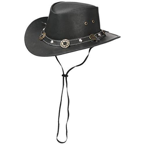 Scippis - Lederen hoed Concho - Negro, L/59-60cm
