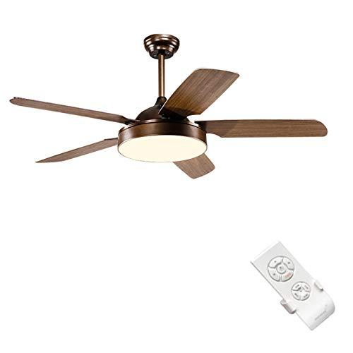 72in Fan (CZZZ Deckenventilator/Retro Wood Leaf Light Deckenventilator/Fernbedienung/Dual Control/Silent Fan/Energiesparende Restaurant Fan)