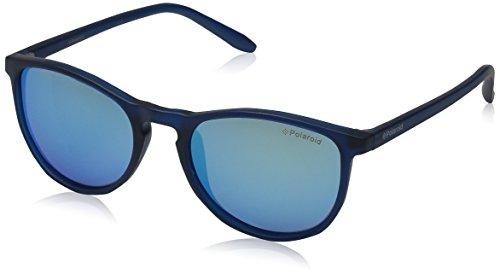 Polaroid Unisex-Kinder PLD 8016/N JY UJO Sonnenbrille, Blau (Bluette Transparent/Greyblmirror Pz), 48