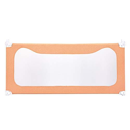 Laufgitter Laufstall Baby Extra Langer Bettzaun für Twin Bed, verstellbare Bettgitter für Kleinkinder, Metallbett-Sicherheitsschutz für Jungen Mädchen (Farbe : Orange, größe : 2.0M)