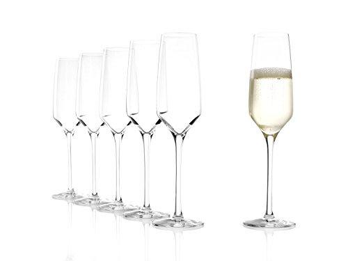 EXPERIENCE Flûte à champagne, Lot de 6, Transparent