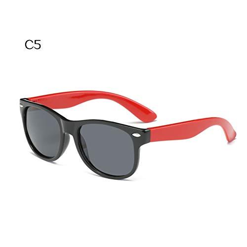 CCGKWW Kindersonnenbrille Polarisierte Art- Und Weisebaby-Sonnenbrille-Ultra-Weiche Silikon-Sicherheits-Jungen-Mädchen-Schutzbrille-Kinderbrillen Uv400
