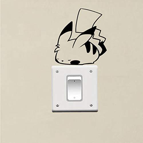 (Wc-asdcc Pokemon Sleeping Pikachu Niedlichen Vinyl Schalter Dekor Wandaufkleber Aufkleber 2pcs)