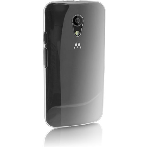 iGadgitz U3322 Hülle aus Hartplastik für Motorola Moto G 2. Generation 2014 XT1068 (G2) Schutzhülle und Displayschutzfolie - transparent