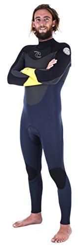 Down Patrol Back Zip Neoprenanzug, schwarz/blau/gelb thumbnail