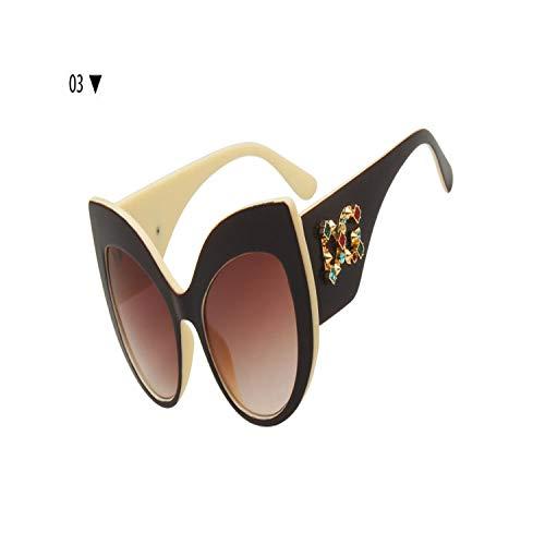 Sport-Sonnenbrillen, Vintage Sonnenbrillen, NEW Fashion Brand Design Ladies Oversized Cat Eye Sunglasses Women Luxury Diamond Frame Sun Glasses Female UV400 03