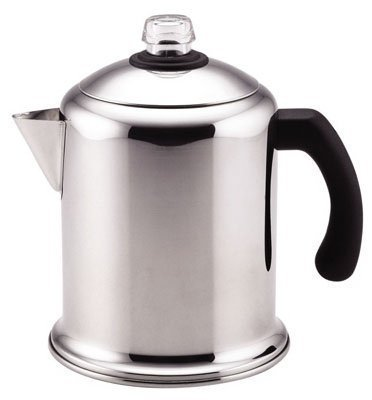 Meyer Cookware 50124 Yosemite Percolator, Stainless Steel, 8-Cup - Quantity 4 by Meyer Cookware