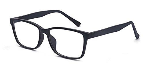 ALWAYSUV Klassische Nerdbrille Klare Linse Brille Vintage Look Brillengestell mit Nasenpad