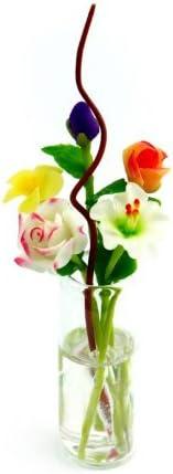 MyTinyWorld 5 mélangé TIGE LONGUE Flowers Flowers LONGUE dans une VASE EN VERRE (gv77) B00IOZDYSS 083993