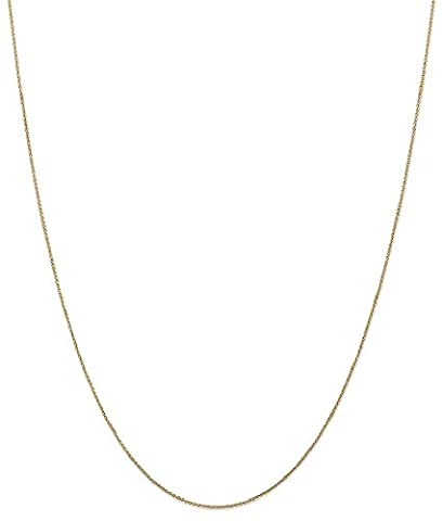 IceCarats 14k Yellow Gold .75mm Solid Link Cable Chain Necklace 24 Inch