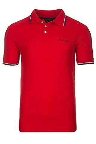 PIERRE CARDIN Tipped Polo T-Shirt Herren Poloshirt Hemd Rot, Größenauswahl:M
