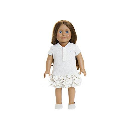 Puppe 20,3–45,7cm Puppe von Treasured Puppen, Unserer mittel-Haut mit Lange Hellbraun lockiges Haar und schöne Blaue Augen