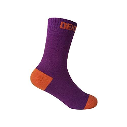 Dexshell Ultra Thin Kinder Outdoor Wander Wasserdichte Socken Lila Grösse 28-30