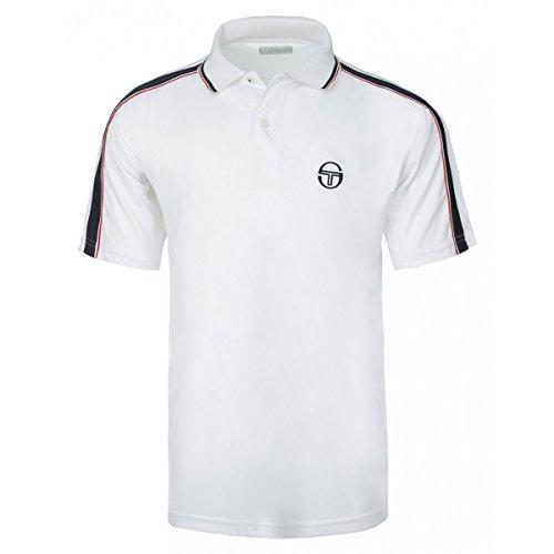 Sergio Tacchini Polo Uomo Bianco Blu Rosso (XL, Bianco Blu Rosso )
