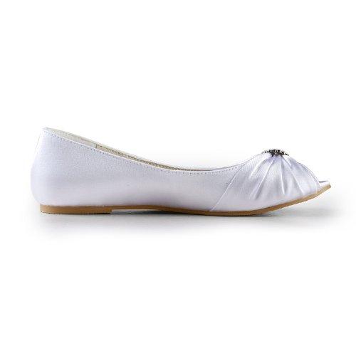 Jia Jia Wedding 3683 Scarpe Sposa Scarpe col tacco donna Bianco