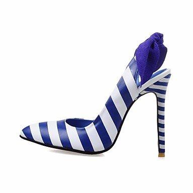 SANMULYH Scarpe Donna Primavera Autunno Comfort Tacchi Stiletto Heel Per Casual Blu Di Mandorla Blue