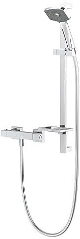 Methven wcts waipori Duscharmatur Thermostat Bar Dusche Regelung und Satinjet-mit Chrom Finish
