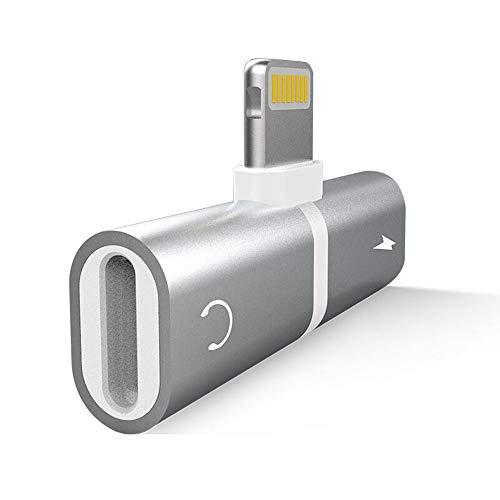 2 in 1 Adapter 3.5 mm mit Kopfhörer und Ladegerät für iPhone XR XS XS Max iPhone X / 10 iPhone 8/8 Plus iPhone 7/7 Plus iPod iPad iOS 11 (Kopfhörer-adapter Ipod)