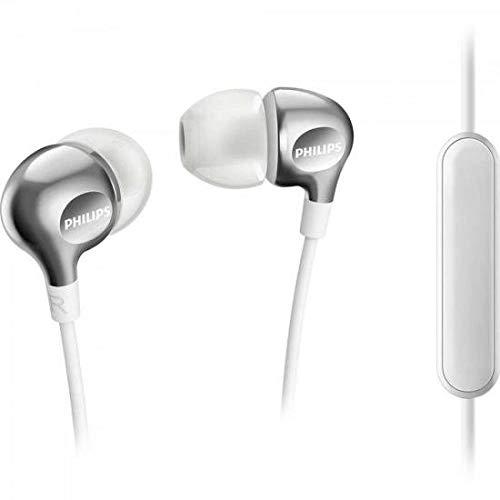 Philips Vibes SHE3705WT Ecouteurs Intra-auriculaires avec Micro, 3 Paires d'Embouts et Câble Renforcé, Blanc