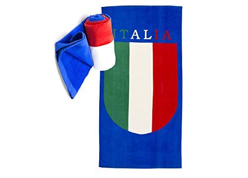 Strandtuch bedruckt Baumwolle Frottee Position Italien 86x160 Italia -