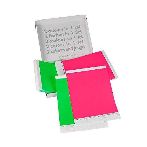 500 pezzi GA Event Solutions Braccialetti di identificazione Tyvek Rosso