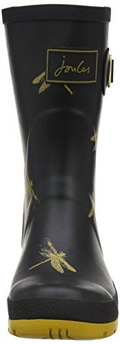 Joules Molly Welly, Bottes de Pluie femme Noir (Noir Dragonfly)