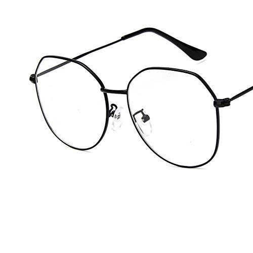 Sonnenbrille Big Frame Frauen Schwarze Brillengestell Aus Metall Brillen Vintage Klare Optische Gläser Fake Gläser