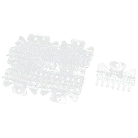 Kunststoff Frauen Schmetterlings-Form-Haar-Greifer-Klipp-Kiefer-Clamp-Bogen 12pcs löschen