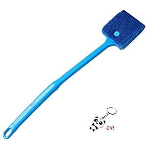 kuou Aquarium Fish Tank Cleaning Sponge Brush, Algae Scrapers Double Face Sponge for Glass Tank
