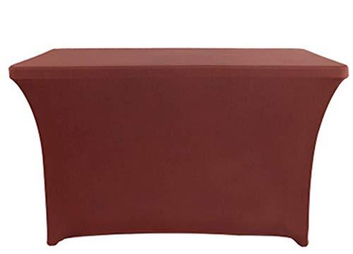 Zerci stretch tavolo tovaglia copertura 1,8m lunghezza rettangolare in spandex full standard per tavoli pieghevoli, decorazioni di nozze, catering e forniture vacanza party, coffee, 244 cm (8 piedi)