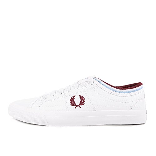 Fred Perry Kendrick Tipped Cuff Perf Leather White Weiß