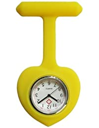 ShopyStore Yellow 2017 New Heart Silicone Nurses Watches Doctor Portable Pocket Fob Watch Tunic