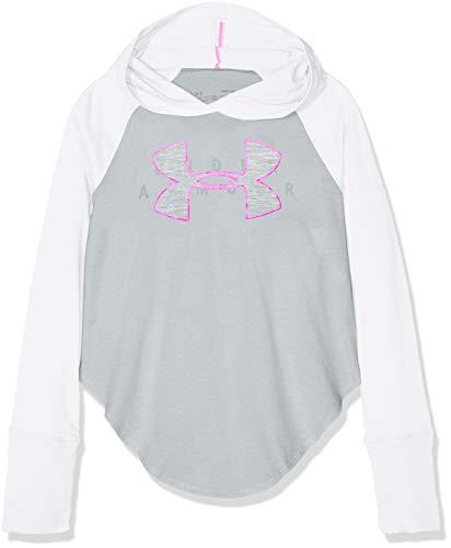 Under Armour Mädchen Finale Layer Langarmshirt, Weiß, YXL Cotton Half Zip Sweatshirt