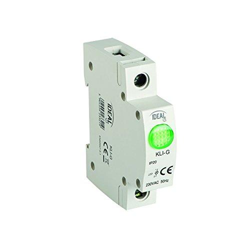 Kontroll Ideal Ideal KLI-G Lampe LED grün Phasenprüfer Phasenkontrollleuchte Kontrolllampe 13mA, IP20, SMD LEDs, Kanlux SL-GN GREEN (03821) Konformität : Normen EN60947-1 / EN60947-5-1