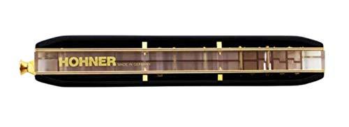 Mundharmonika, Deutschland Imported SUPER 64X 16 Loch Professionelle Chromatische Mundharmonika, Collection (Color : Black)